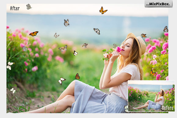 Print on Demand: Butterflies Photo Overlays Graphic Layer Styles By MixPixBox - Image 4