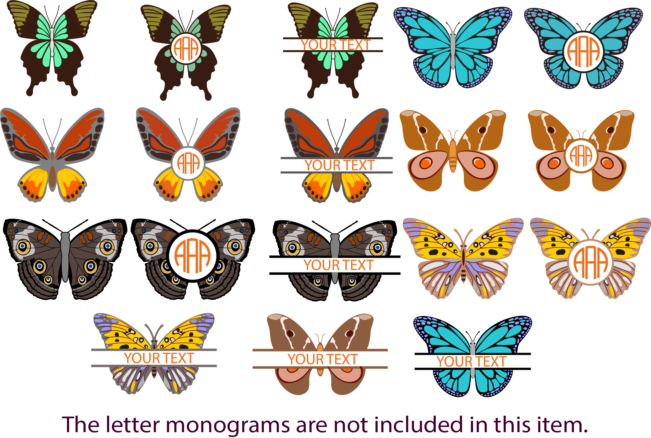 Download Free Butterflies Graphic By Yulnniya Creative Fabrica for Cricut Explore, Silhouette and other cutting machines.