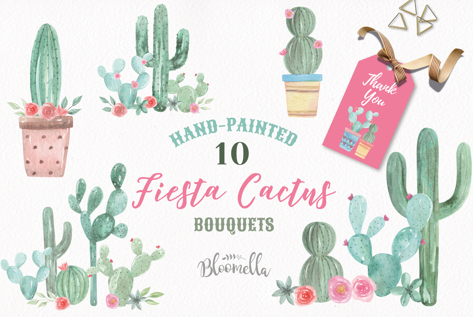 Download Free Cactus Watercolor Florals Graphic By Bloomella Creative Fabrica for Cricut Explore, Silhouette and other cutting machines.