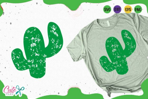 Download Free Cactus Grunge Graphic By Cute Files Creative Fabrica for Cricut Explore, Silhouette and other cutting machines.