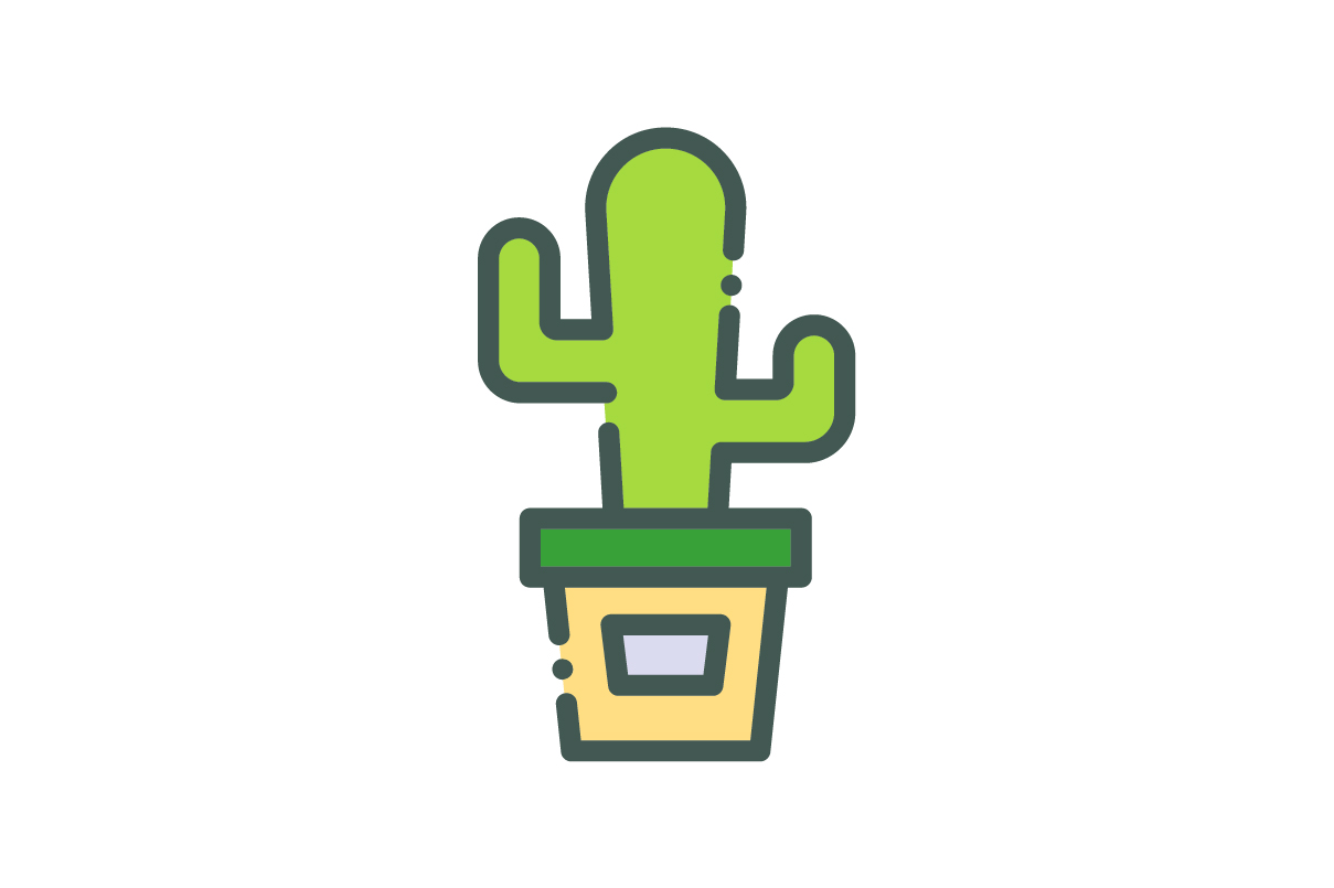 Download Free Cactus Icon Graphic By Rudezstudio Creative Fabrica for Cricut Explore, Silhouette and other cutting machines.