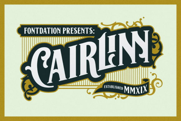 Print on Demand: Cairlinn Display Font By Fontdation - Image 1