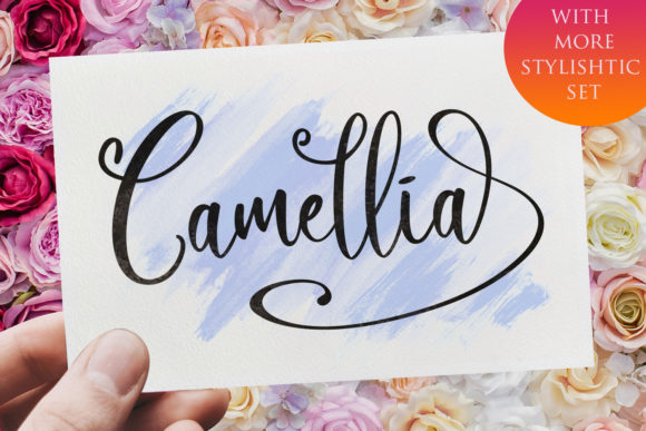 Print on Demand: Camellia Script Script & Handwritten Font By Din Studio