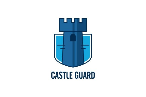 Download Free Castle Logo Template Graphic By Zaenal Abidin4133 Creative Fabrica for Cricut Explore, Silhouette and other cutting machines.