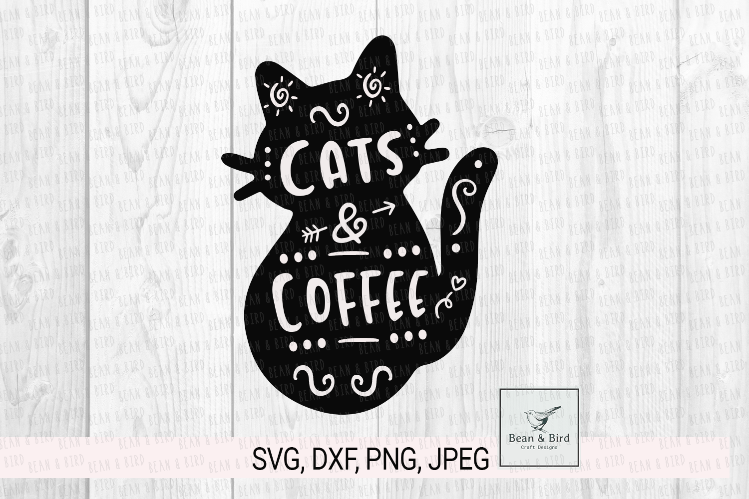 Download Free Cats And Coffee Graphic By Jessica Maike Creative Fabrica for Cricut Explore, Silhouette and other cutting machines.