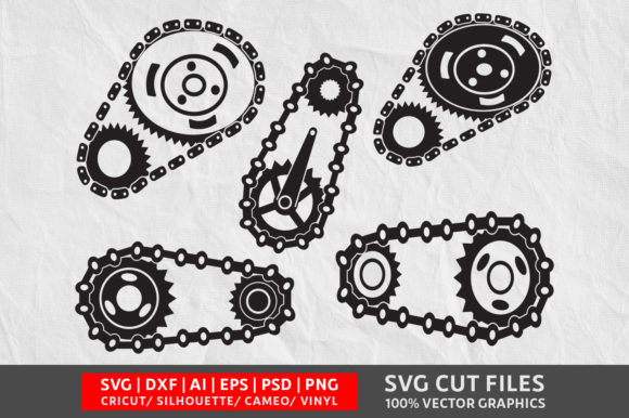 Download Free Chain Gears Graphic By Design Palace Creative Fabrica for Cricut Explore, Silhouette and other cutting machines.