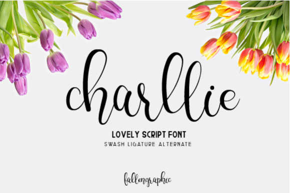 Print on Demand: Charllie Script Script & Handwritten Font By Fallengraphic