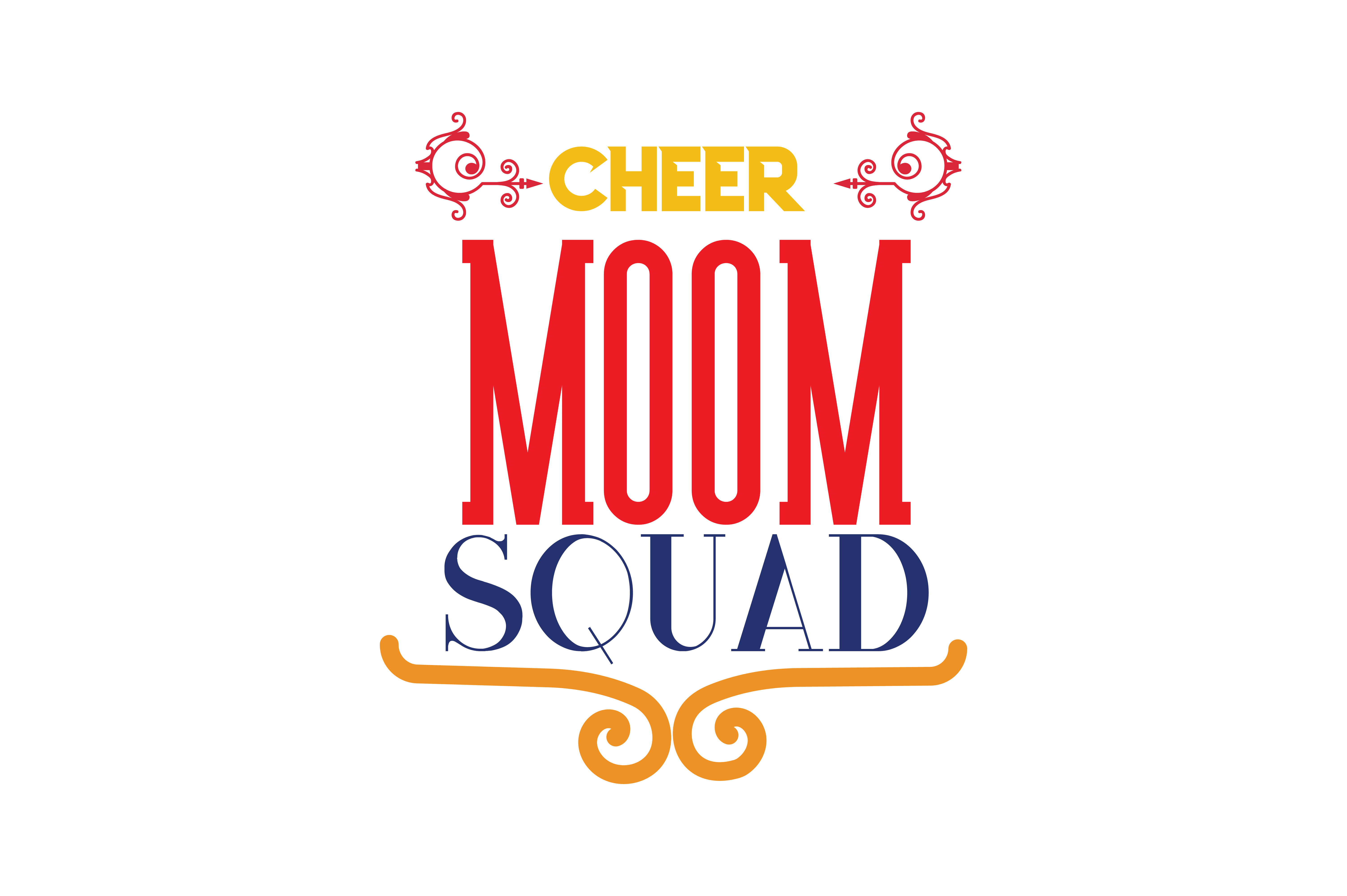 Download Free Cheer Mom Squad Quote Svg Cut Graphic By Thelucky Creative Fabrica for Cricut Explore, Silhouette and other cutting machines.