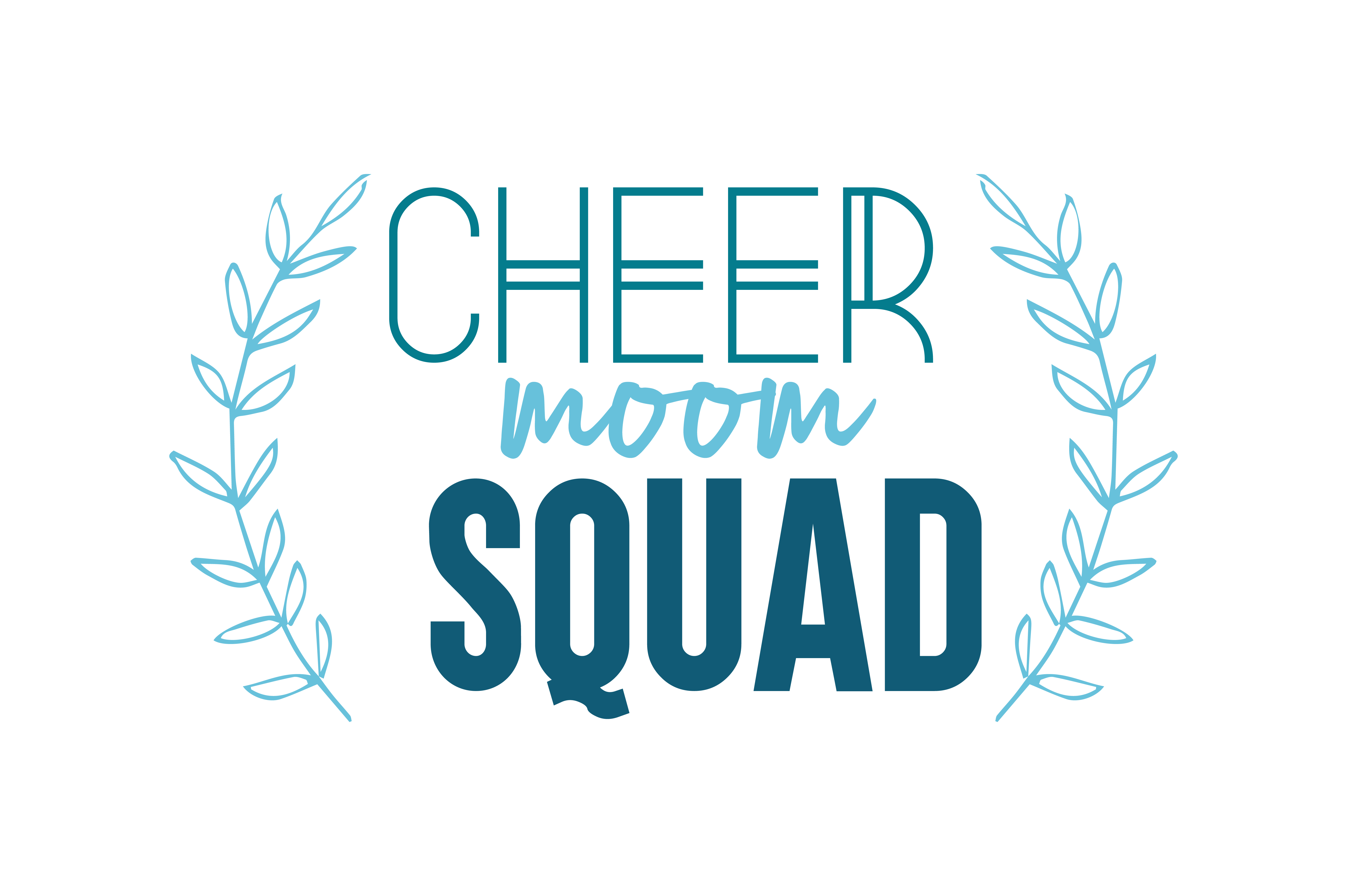 Download Free Cheer Moom Squad Svg Cut Quote Graphic By Thelucky Creative for Cricut Explore, Silhouette and other cutting machines.