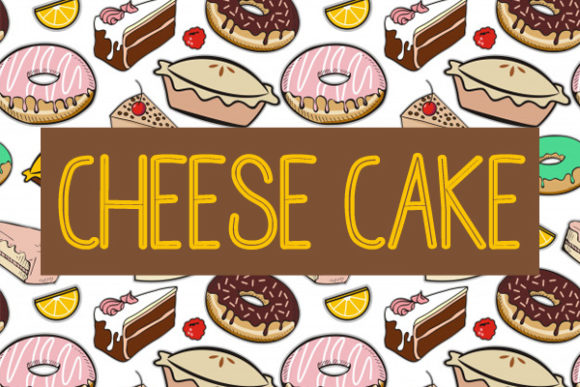 Print on Demand: Cheese Cake Sans Serif Fuente Por Docallisme