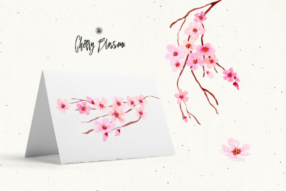 Cherry Blossom Graphic By webvilla Image 2