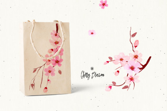 Cherry Blossom Graphic By webvilla Image 3