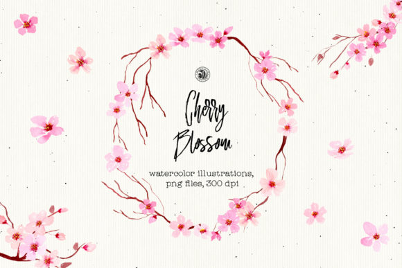 Print on Demand: Cherry Blossom Graphic Illustrations By webvilla
