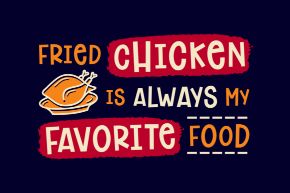 Print on Demand: Chicken Dinner Sans Serif Font By Keithzo (7NTypes) - Image 2