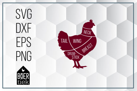 Download Free Chicken Poultry Graphic By Boertiek Creative Fabrica for Cricut Explore, Silhouette and other cutting machines.
