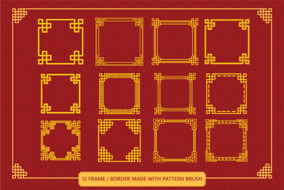 Download Free Chinese Ornamnet Brush Set Graphic By Anomali Bisu Creative Fabrica SVG Cut Files