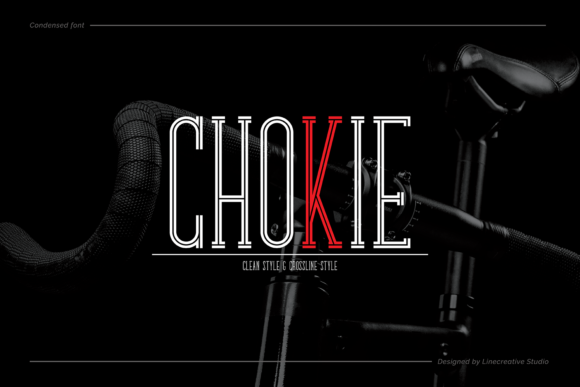 Print on Demand: Chokie Display Font By Line creative