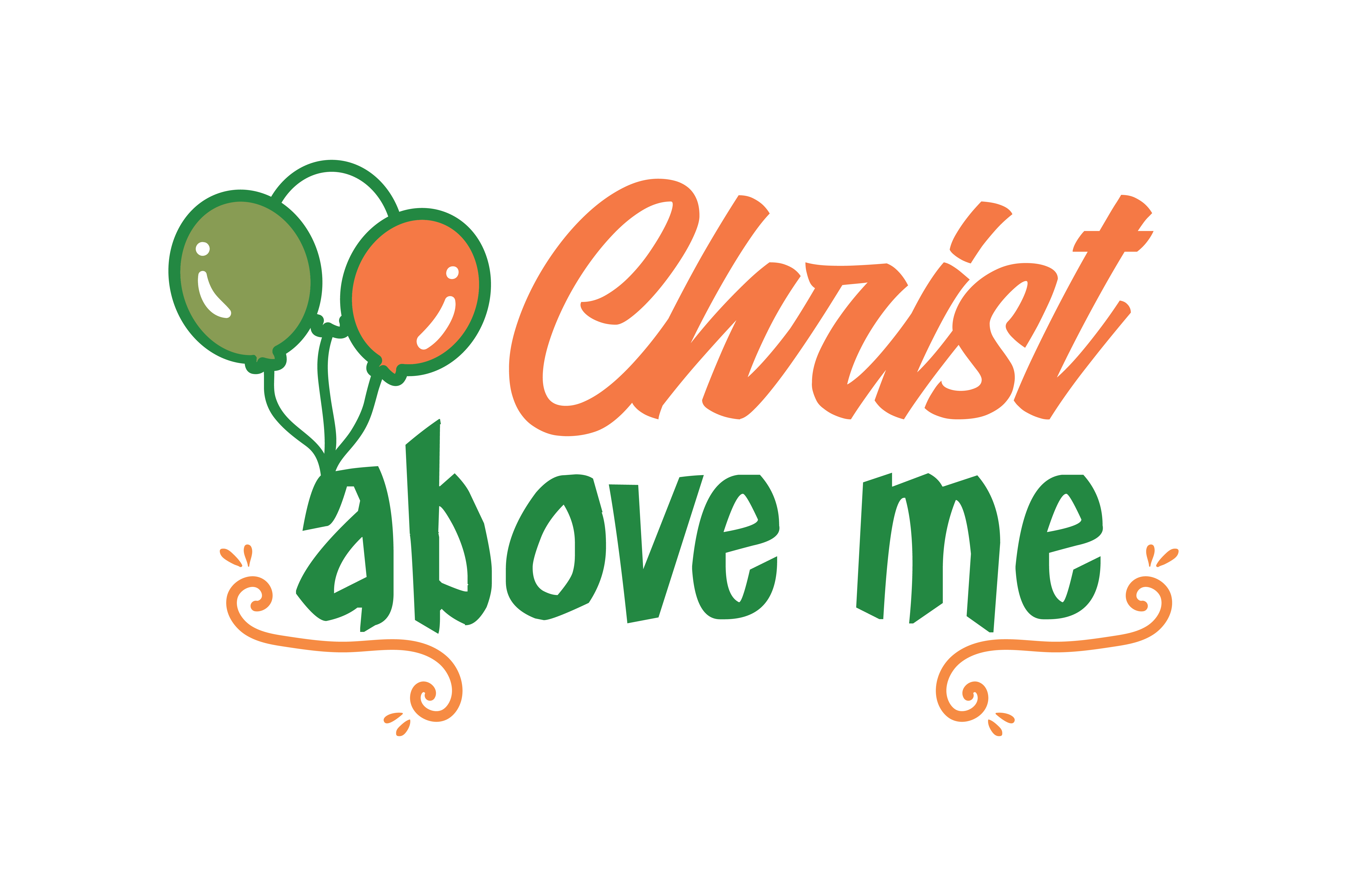 Download Free Christ Above Me Quote Svg Cut Graphic By Thelucky Creative Fabrica for Cricut Explore, Silhouette and other cutting machines.