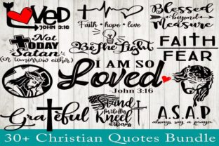 Print on Demand: Christian Quotes Bundle Graphic Crafts By dynamicdimensions 1