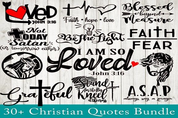Print on Demand: Christian SVG Bundle Graphic Crafts By dynamicdimensions