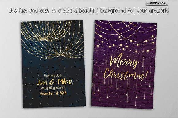 Download Free Christmas Lights Golden Glow Graphic By Mixpixbox Creative Fabrica for Cricut Explore, Silhouette and other cutting machines.