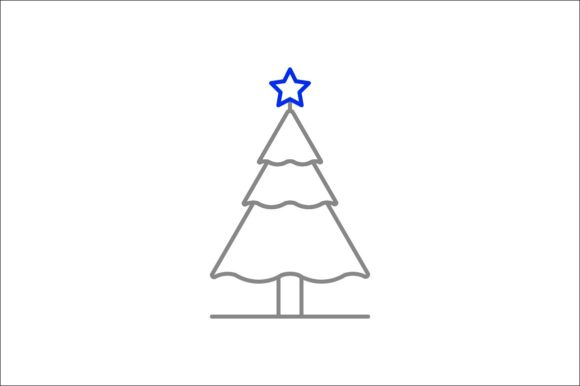 Print on Demand: Christmas Tree Graphic Icons By khld939 - Image 1