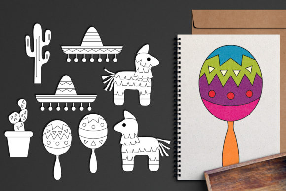 Download Free Cinco De Mayo Sombrero Pinata Graphic By Revidevi Creative Fabrica for Cricut Explore, Silhouette and other cutting machines.