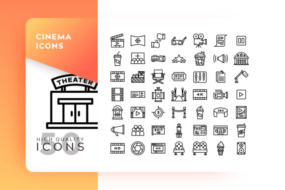 Cinema Icon Set Graphic Icons By Goodware.Std - Image 1