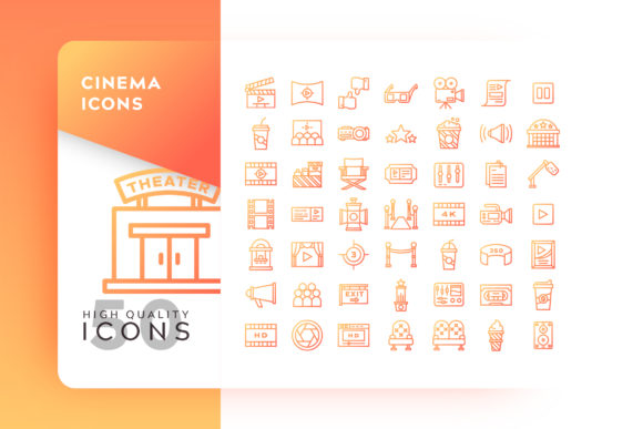 Cinema Icons Pack Graphic By Goodware.Std