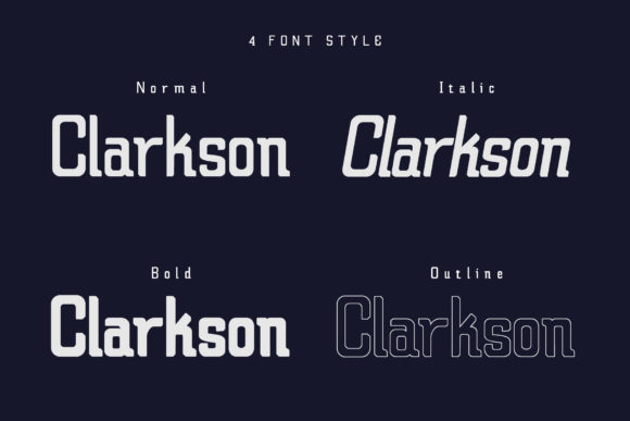 Claretta Family Font By Cooldesignlab Image 4