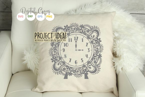Clock Design Graphic Crafts By Digital Gems - Image 3