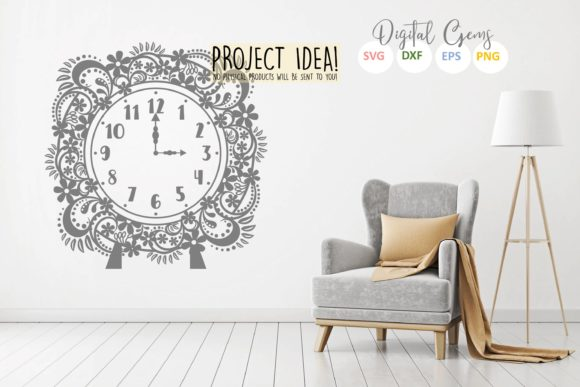 Clock Design Graphic Crafts By Digital Gems - Image 4