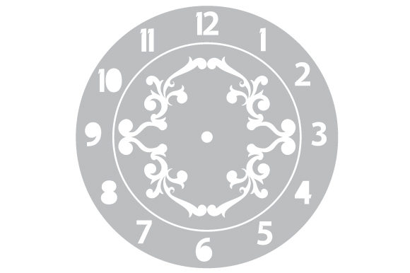 Download Free Clock Face Svg Cut File By Creative Fabrica Crafts Creative SVG Cut Files