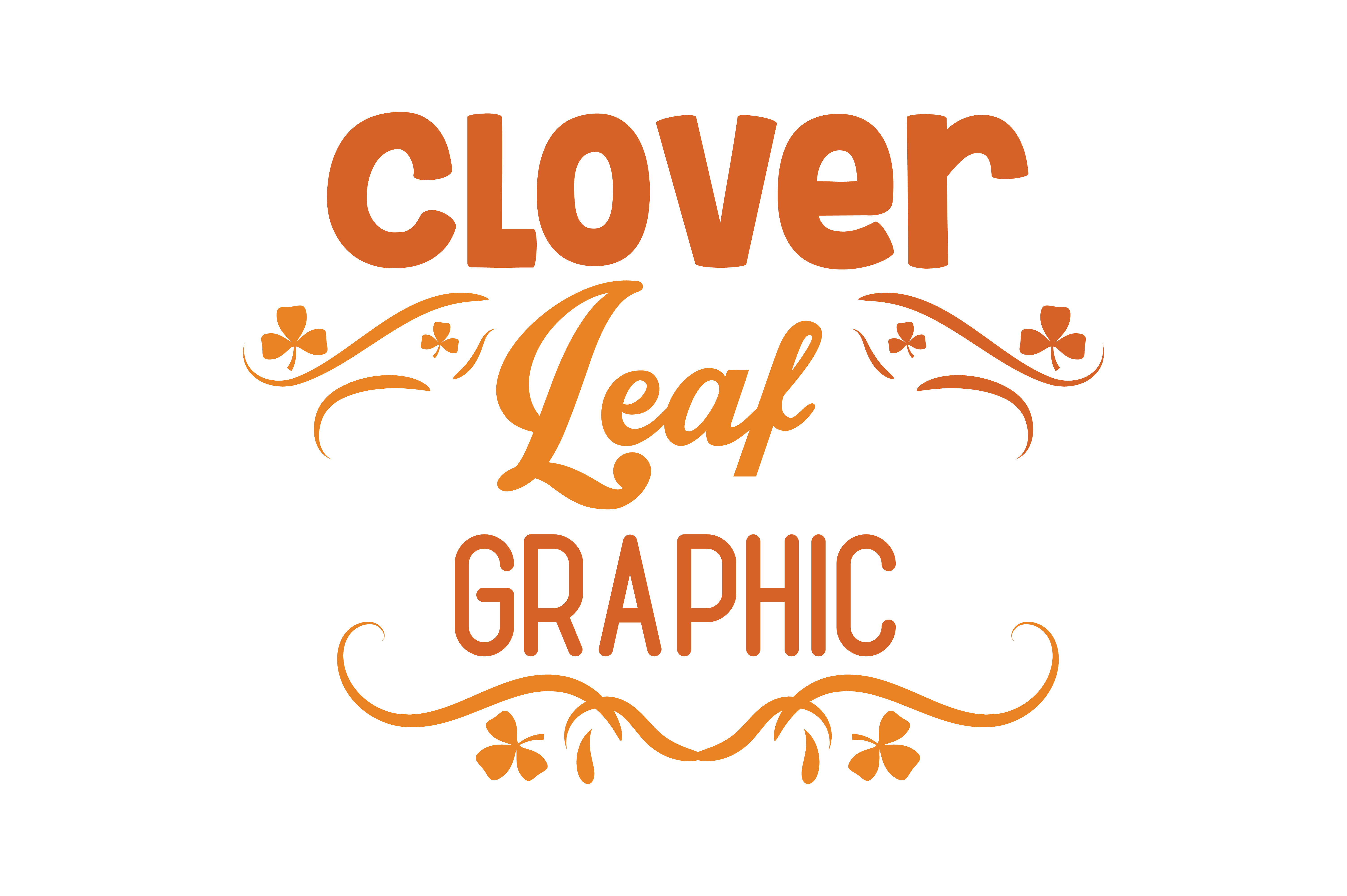 Download Free Clover Leaf Graphic X2 Quote Svg Cut Graphic By Thelucky for Cricut Explore, Silhouette and other cutting machines.