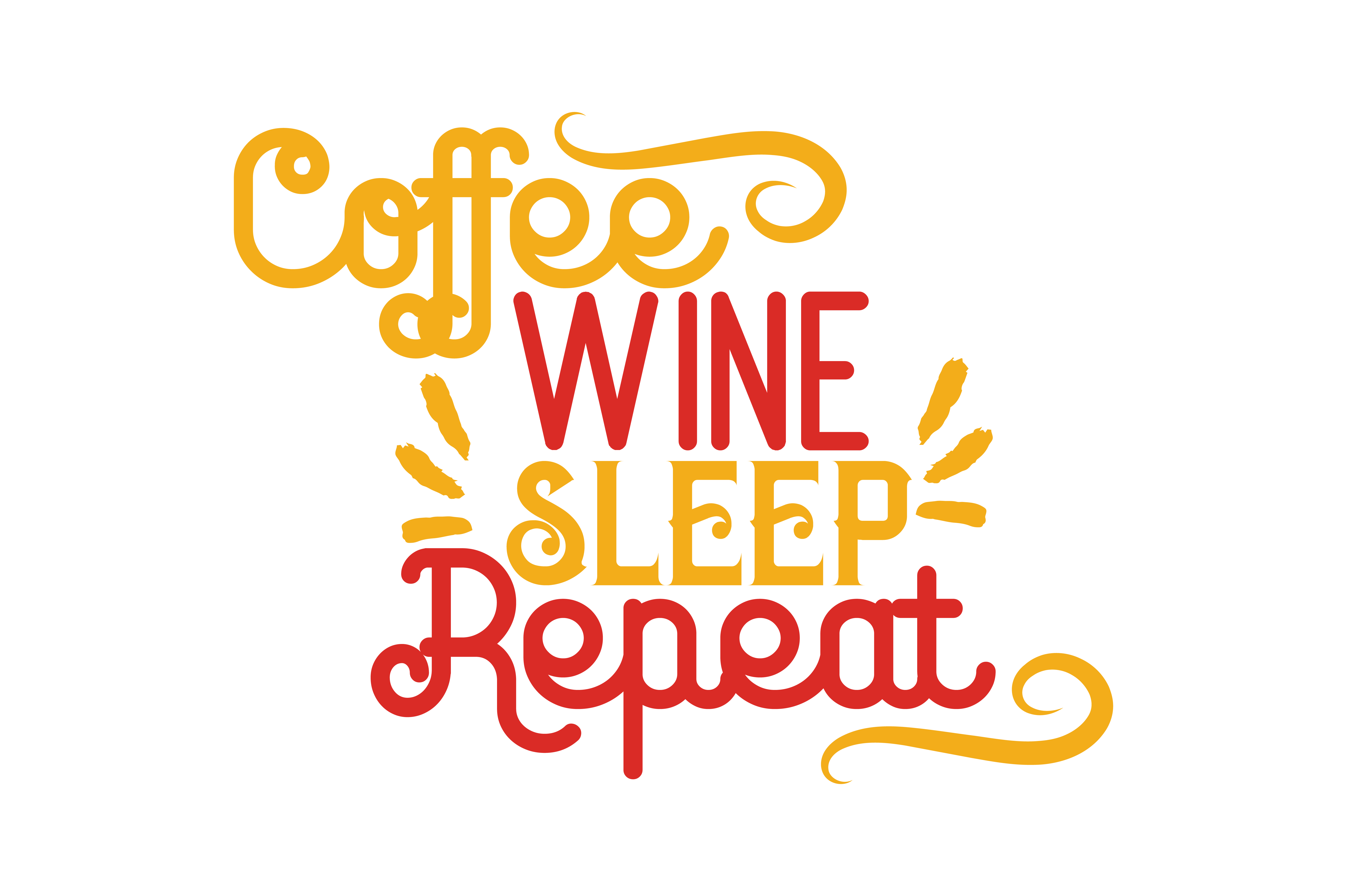 Download Free Coffee Wine Sleep Repeat Svg Cut Quote Graphic By Thelucky for Cricut Explore, Silhouette and other cutting machines.