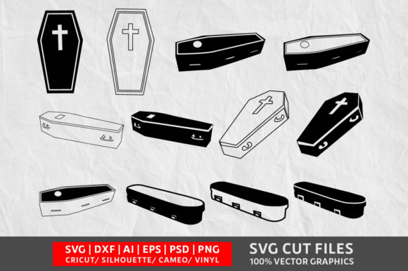 Download Free Coffin Cut File Graphic By Design Palace Creative Fabrica for Cricut Explore, Silhouette and other cutting machines.