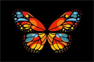 Download Free Colorful Butterfly Graphic By Deniprianggono78 Creative Fabrica for Cricut Explore, Silhouette and other cutting machines.