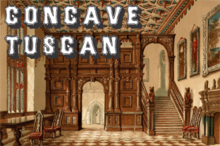 Concave Tuscan Family Font By Intellecta Design