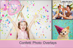 Confetti Overlays + PS Brushes Graphic By MixPixBox