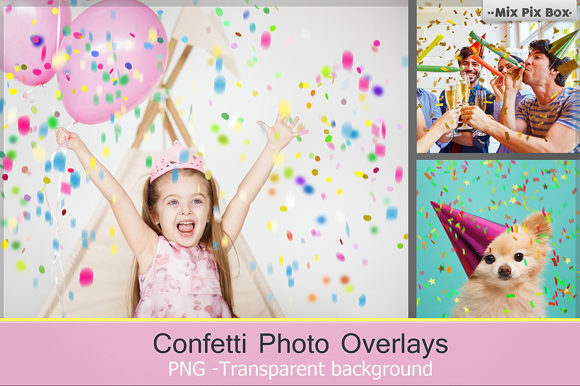 Print on Demand: Confetti Overlays + PS Brushes Graphic Layer Styles By MixPixBox