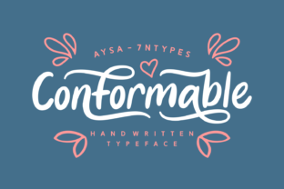 Conformable Font By Aysa - 7NTypes