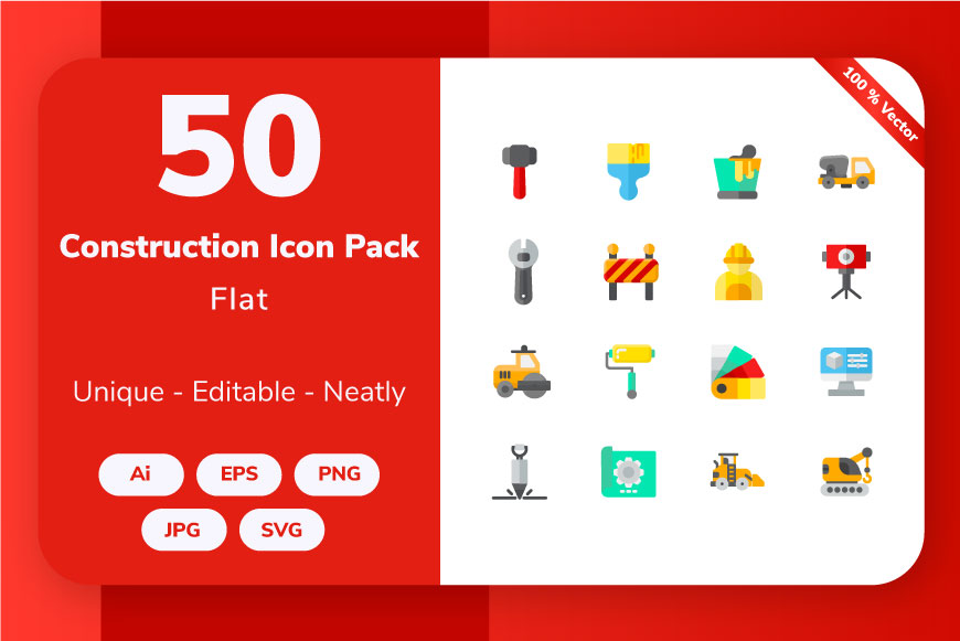 Construction Flat Graphic By Icon Stale Creative Fabrica