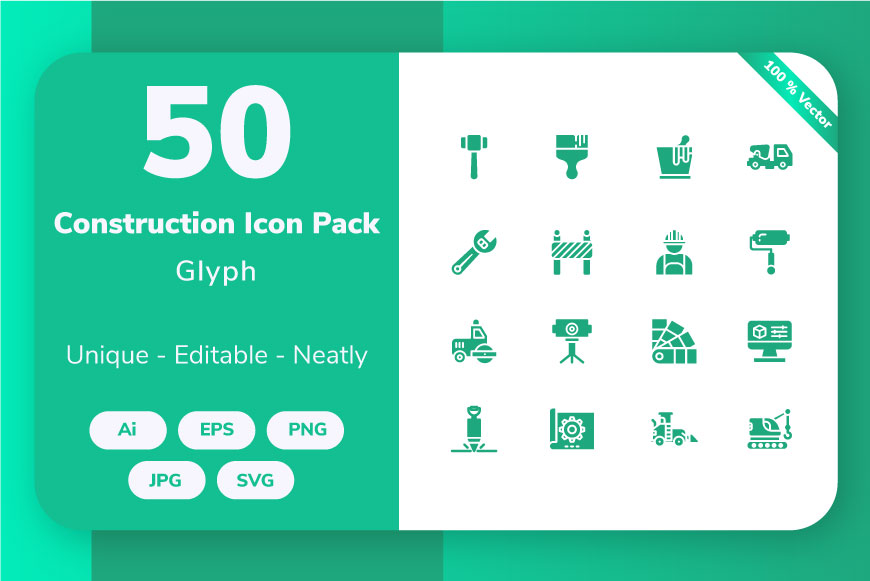 Download Free Construction Glyph Graphic By Icon Stale Creative Fabrica for Cricut Explore, Silhouette and other cutting machines.