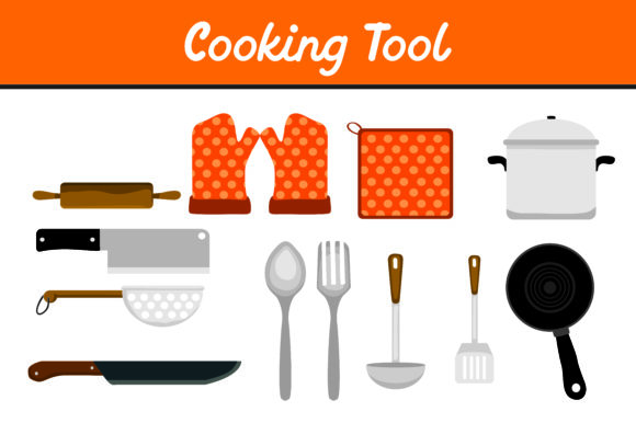 Print on Demand: Cooking Tool Bundle Graphic Icons By Arief Sapta Adjie