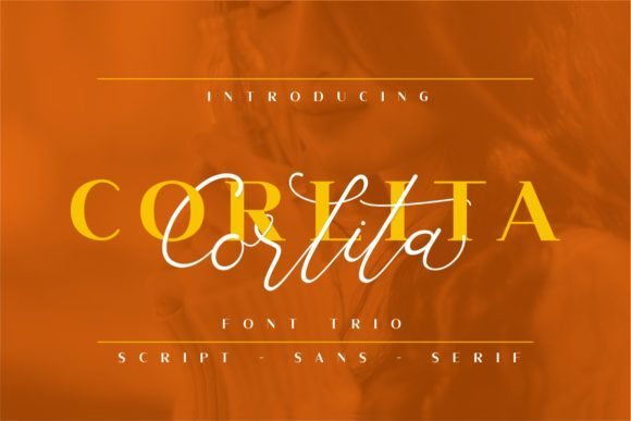 Print on Demand: Corlita Trio Script & Handwritten Font By putracetol