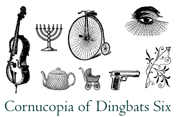 Print on Demand: Cornucopia of Dingbats Six Dingbats Font By Intellecta Design