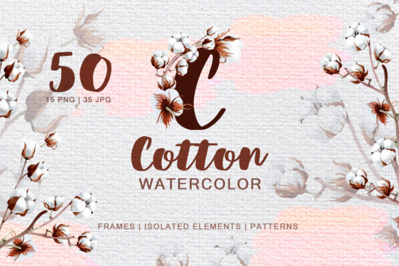 Print on Demand: Cotton Watercolor Png Graphic Illustrations By MyStocks