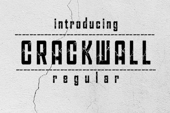 Print on Demand: Crackwall Display Font By linafisstudio