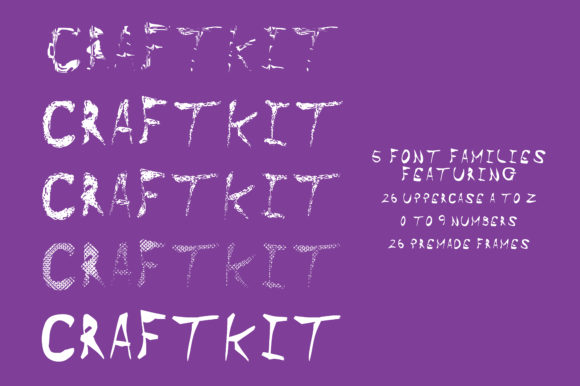 Print on Demand: Craft Kit Dingbats Font By GraphicsBam Fonts