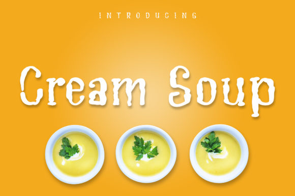 Print on Demand: Cream Soup Script & Handwritten Font By Royaltype